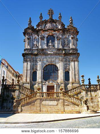 The Clerigos Church In Porto, Portugal.