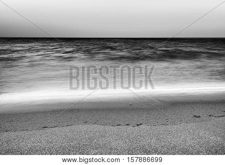 Black and white tidal waves landscape background hd