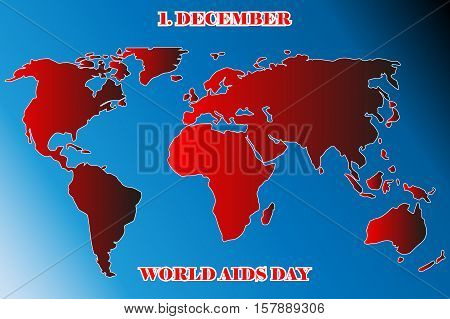 World AIDS Day , The World Aids Day on map