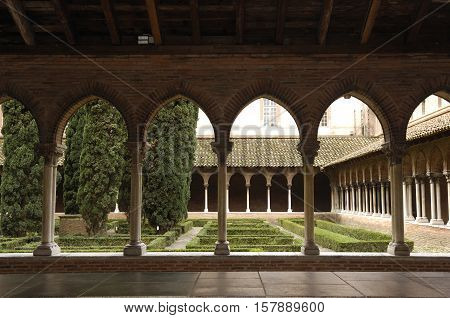 Cloister of Jacobins Church in Toulouse France