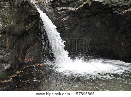 rocks and waterfalls, landscape Jesenik, Moravia, Czech Republic, Europe