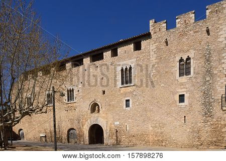 Palace abbot at the Monastery of Santa Maria de Vilabertran Alt Emporda Girona province Spain