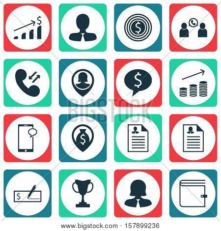 Set Of Hr Icons On Curriculum Vitae, Tournament And Business Goal Topics. Editable Vector Illustrati