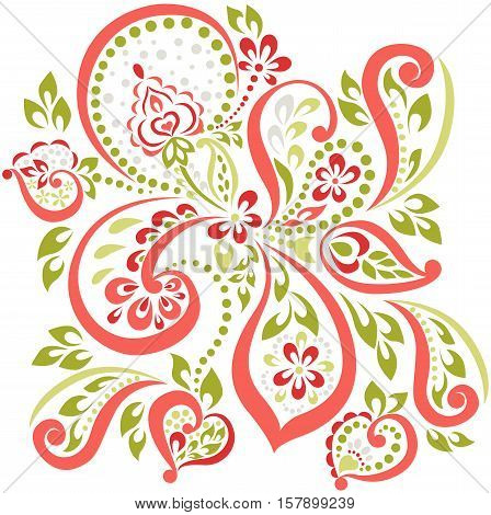 vector pattern in oriental, lightweight breathable spring element for design