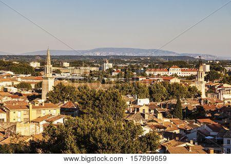 Aerial view of Avignon. Avignon Provence-Alpes-Cote d'Azur France.