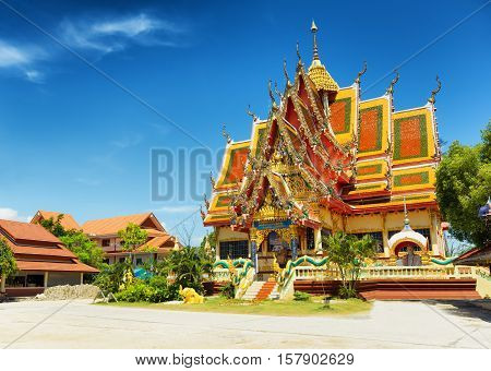 Wat Plai Laem Temple In Samui Island, Thailand