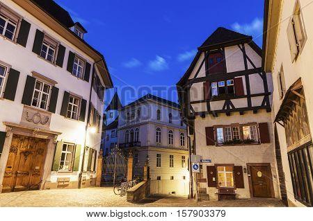 Munsterplatz in Basel. Basel Basel Stadt, Switzerland.