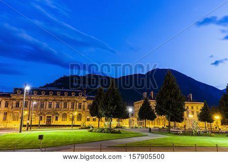 Place de Verdun in Grenoble. Grenoble Auvergne-Rhone-Alpes France