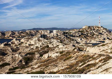 Landscape of Frioul archipelago. Marseille Provence-Alpes-Cote d'Azur France.