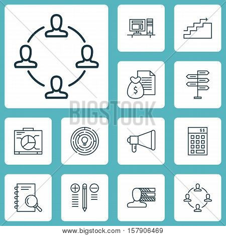 Set Of Project Management Icons On Decision Making, Investment And Board Topics. Editable Vector Ill