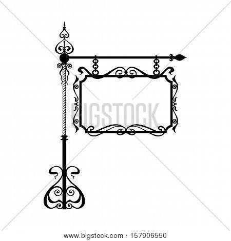 Vector illustration. Wrought iron. Signboards eps jpg