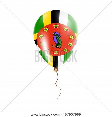 Dominica Balloon With Flag. Bright Air Ballon In The Country National Colors. Country Flag Rubber Ba