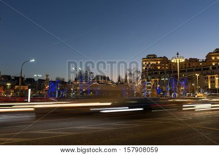 Moscow Decorated For New Year.