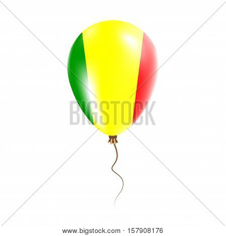Mali Balloon With Flag. Bright Air Ballon In The Country National Colors. Country Flag Rubber Balloo