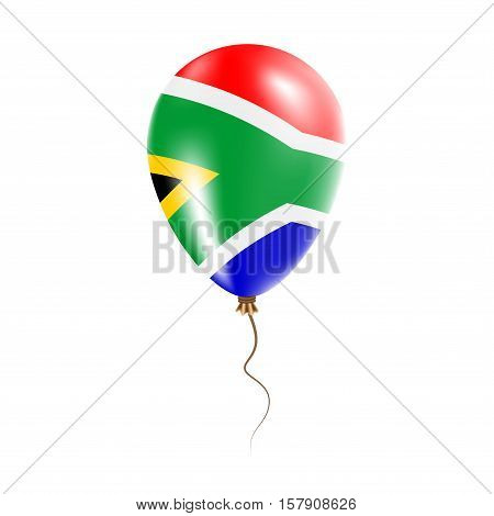 South Africa Balloon With Flag. Bright Air Ballon In The Country National Colors. Country Flag Rubbe