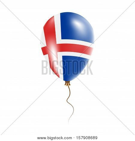 Iceland Balloon With Flag. Bright Air Ballon In The Country National Colors. Country Flag Rubber Bal
