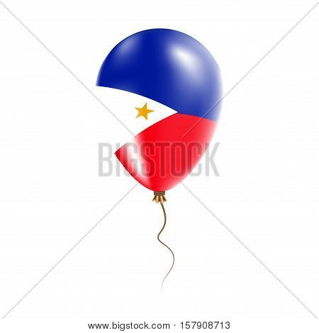 Philippines Balloon With Flag. Bright Air Ballon In The Country National Colors. Country Flag Rubber