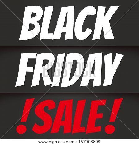 Banner for sale. Black friday sale 2017