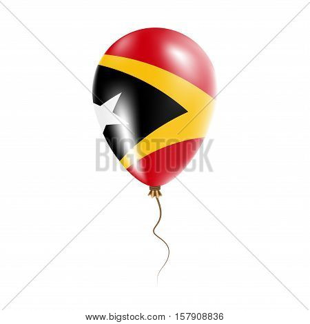 Timor-leste Balloon With Flag. Bright Air Ballon In The Country National Colors. Country Flag Rubber