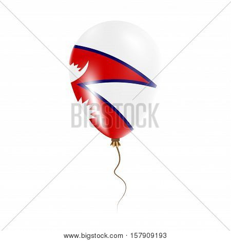 Nepal Balloon With Flag. Bright Air Ballon In The Country National Colors. Country Flag Rubber Ballo