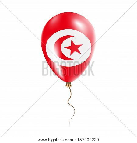 Tunisia Balloon With Flag. Bright Air Ballon In The Country National Colors. Country Flag Rubber Bal