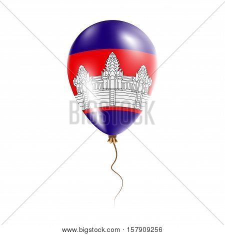 Cambodia Balloon With Flag. Bright Air Ballon In The Country National Colors. Country Flag Rubber Ba