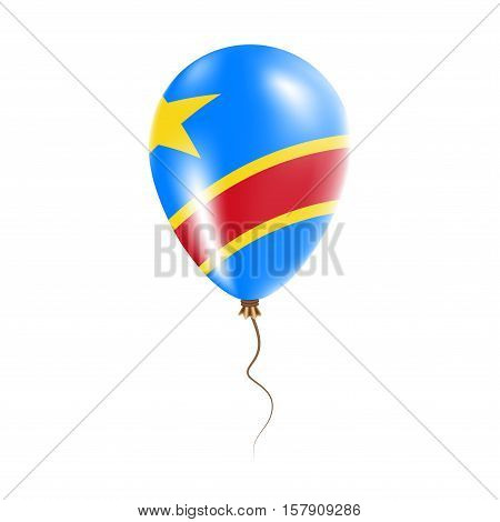 Congo, The Democratic Republic Of The Balloon With Flag. Bright Air Ballon In The Country National C