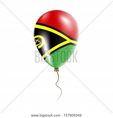 Vanuatu Balloon With Flag. Bright Air Ballon In The Country National Colors. Country Flag Rubber Bal