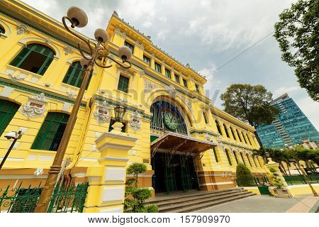 Entrance Of Saigon Central Post Office In Ho Chi Minh, Vietnam
