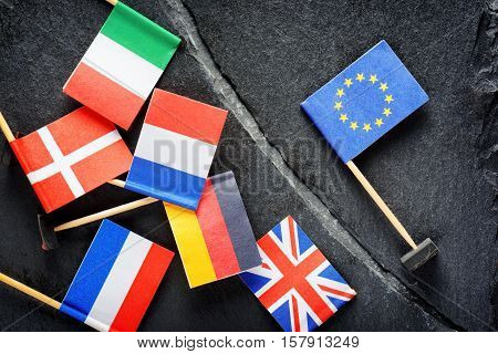 Political Concept With Flag Of The European Union