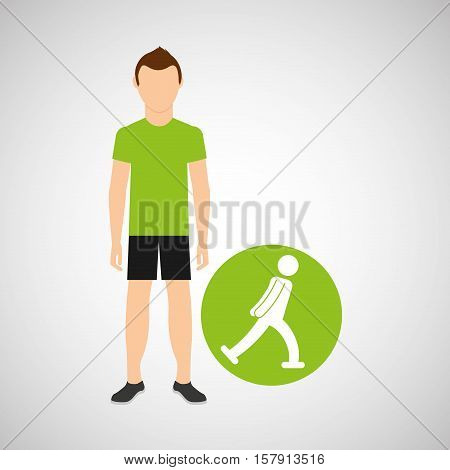 sport man ice skater concept icon design vector illustration eps 10