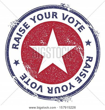 Grunge Usa Patriotic Stars Rubber Stamp. Usa Presidential Election Patriotic Seal With Usa Patriotic