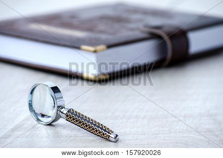 The Clothbound Notebook And Stationery Magnifier With Incrustata