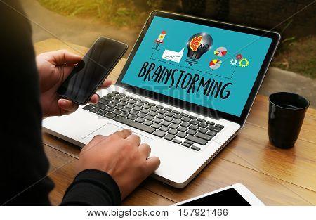 Brainstorming  Ideas To Work Business People  Meeting Brainstorm