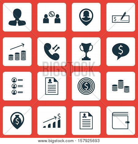 Set Of Human Resources Icons On Business Goal, Female Application And Job Applicants Topics. Editabl