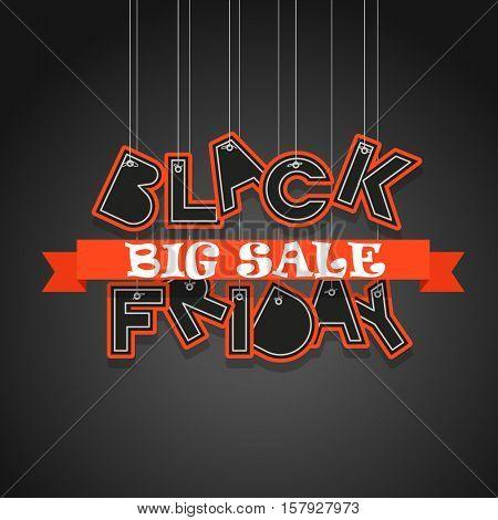 Black Friday sale logo design template. Black Friday vector banner