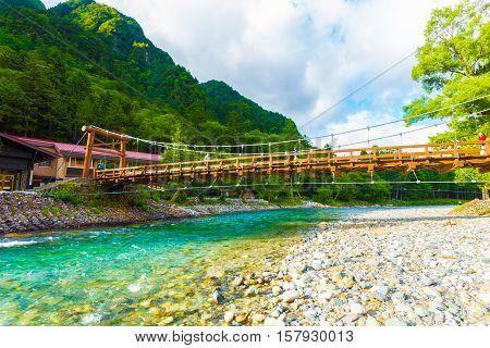 Kamikochi Under Kappa Bridge Azusa River Mountains