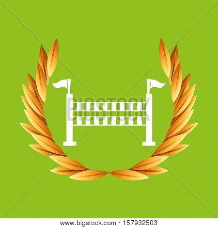 equestrian sport olympic blue badge vector illustration eps 10
