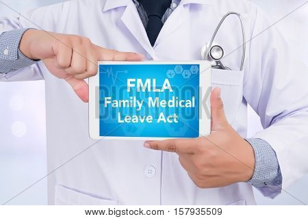 FMLA family medical leave act FMLA act, background, blue, cardiologist,