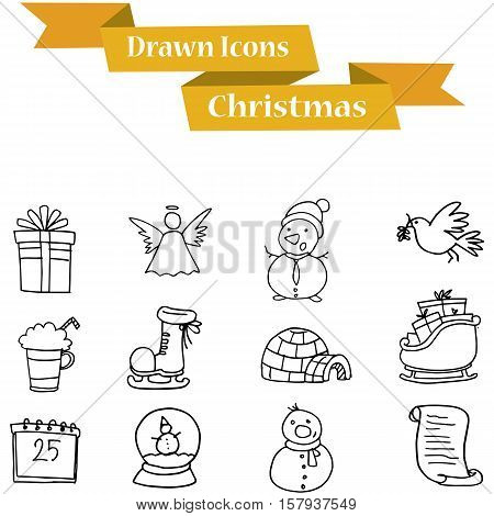 Illustration of Christmas icons collection stock vector