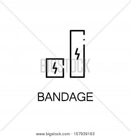 Sport bandage flat icon. Single high quality outline symbol of sport equipment for web design or mobile app. Thin line signs of bandage for design logo, visit card, etc. Outline pictogram of bandage