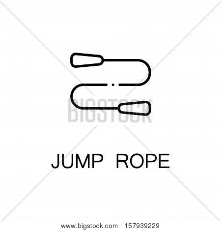 Jump rope flat icon. Single high quality outline symbol of sport equipment for web design or mobile app. Thin line signs of jump rope for design logo, visit card, etc. Outline pictogram of jump rope