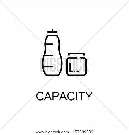 Capacity flat icon. Single high quality outline symbol of sport equipment for web design or mobile app. Thin line signs of capacity for design logo, visit card, etc. Outline pictogram of capacity