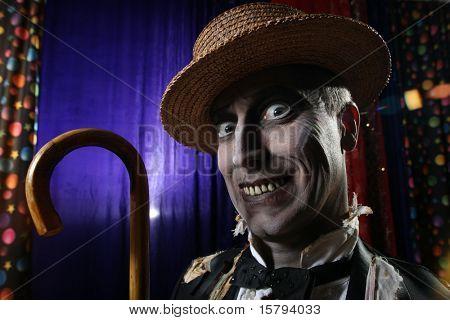 Creepy character portrait.