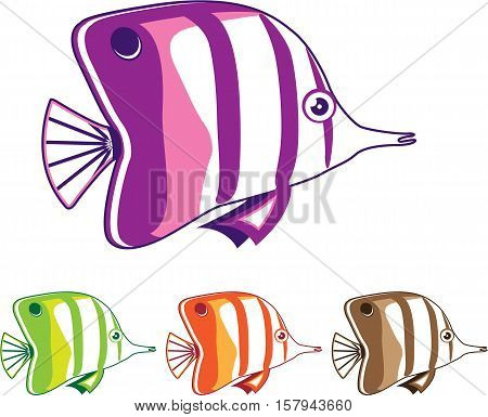 Butterfly fish vector illustration clip-art image eps file
