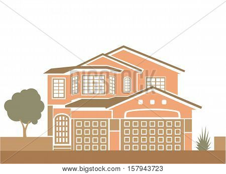 Simple family house vector illustration clip-art image