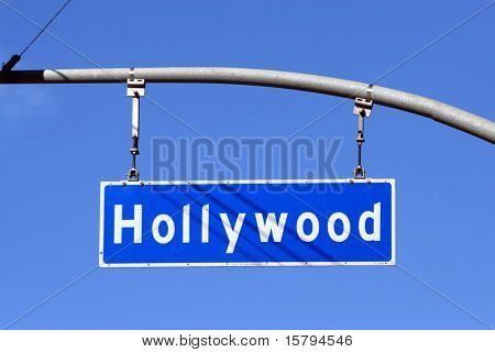 Straßenschild Hollywood Boulevard, Los Angeles, Kalifornien, USA.