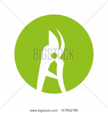 pruning shears isolated icon vector illustration design