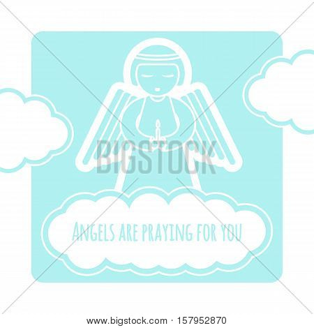 Angel Greeting Card Template