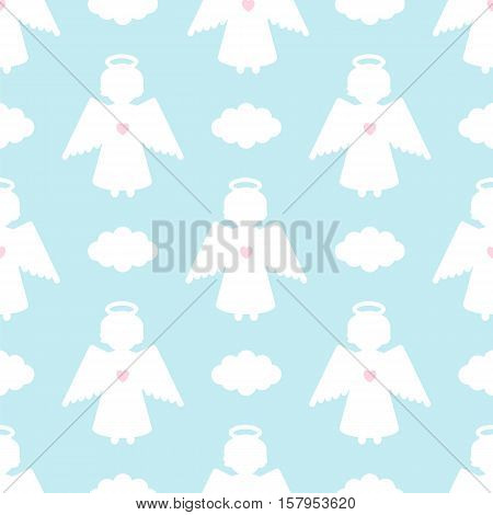 Christmas Seamless Pattern With Angels